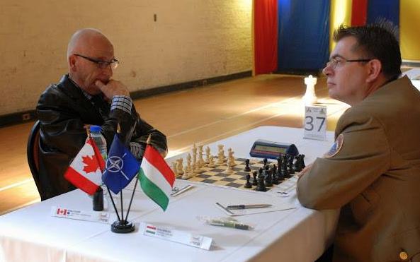 En première ronde contre un joueur de la Hongrie.