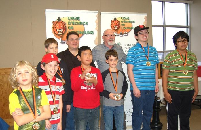Les gagnants des sections jeunesse.